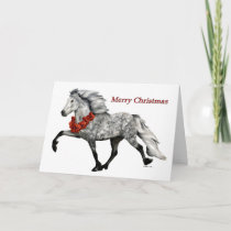 Icelandic Horse Christmas Card