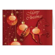 Icelandic Horse Christmas Joy Greeting Card