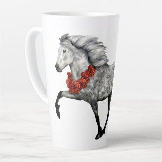 Icelandic Horse Christmas Latte Mug