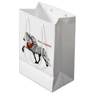 Icelandic Horse Christmas Medium Gift Bag