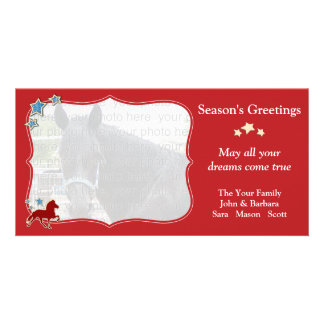 Icelandic Horse Festive Christmas Greetings Photo Card