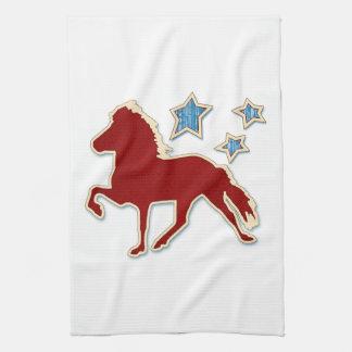 Icelandic Horse Festive Stars Hand Towels
