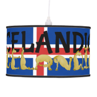 Icelandic Horse Flag Ceiling Lamps
