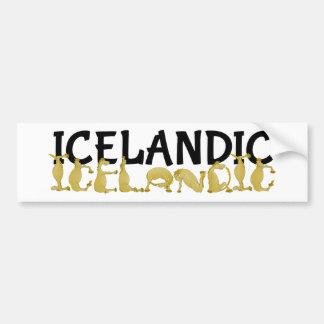 Icelandic Horse | Flag of Iceland Bumper Sticker