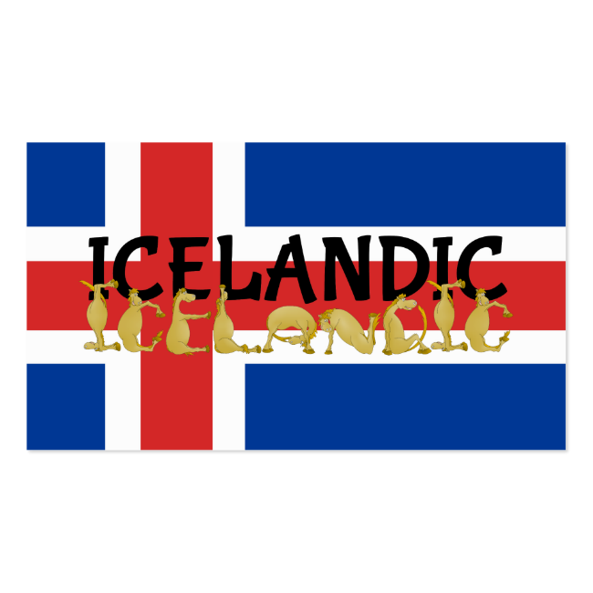 Icelandic horse business cards gaited horse tees gifts and t shirts icelandic horse flag of iceland business cards colourmoves