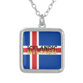 Icelandic Horse | Flag of Iceland Silver Plated Necklace
