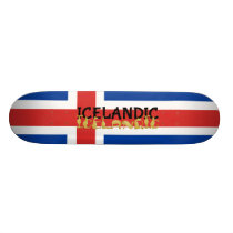 Icelandic Horse | Flag of Iceland Skateboard Deck