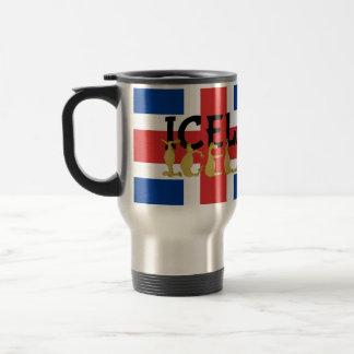Icelandic Horse   Flag of Iceland Travel Mug