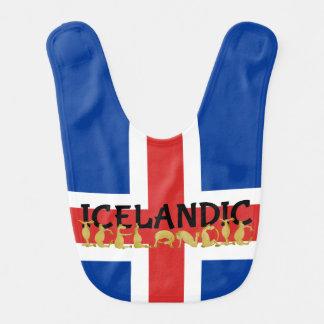 Icelandic Horse Flag Baby Bib