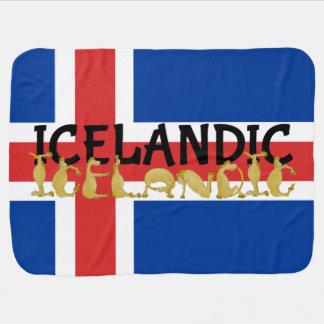 Icelandic Horse Flag Receiving Blanket