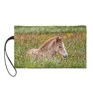 Icelandic Horse Foal Wristlet bag