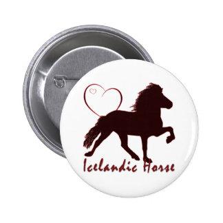 Icelandic Horse Hearts Pin