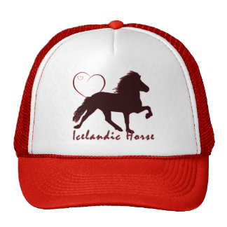 Icelandic Horse Hearts Trucker Hat
