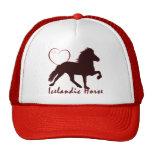 Icelandic Horse Hearts Mesh Hats