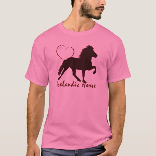 Icelandic Horse Hearts T-Shirt