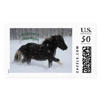Icelandic Horse Holiday Postage