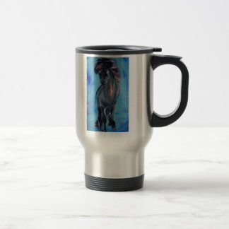 Icelandic Horse in tolt 15 Oz Stainless Steel Travel Mug