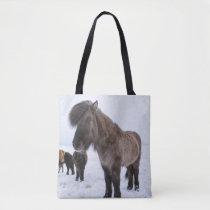 Icelandic Horse in Winter Coat Tote Bag