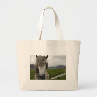 Icelandic Horse Large Tote Bag