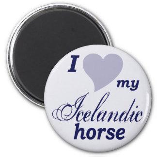 Icelandic horse fridge magnet