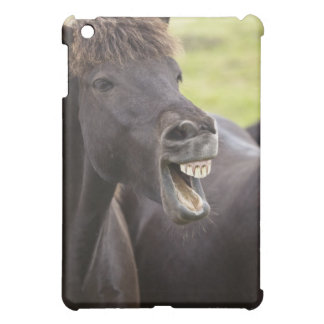 Icelandic horse with funny expression iPad mini cover