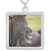 Icelandic horse with funny expression custom jewelry