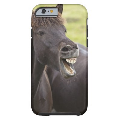 Icelandic horse with funny expression tough iPhone 6 case
