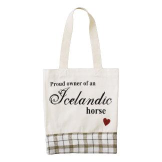 Icelandic horse zazzle HEART tote bag