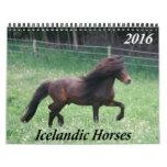 Icelandic Horses - 2016 Monthly Calendar