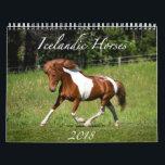 "Icelandic Horses - 2018 Calendar<br><div class=""desc"">Enjoy 12 full months of beautiful Icelandic horses!</div>"