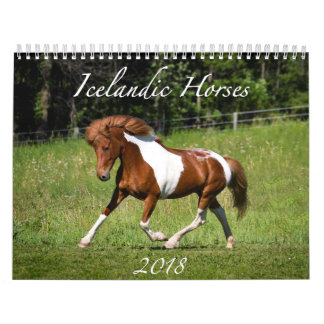 Icelandic Horses - 2018 Calendar
