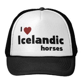Icelandic horses trucker hat