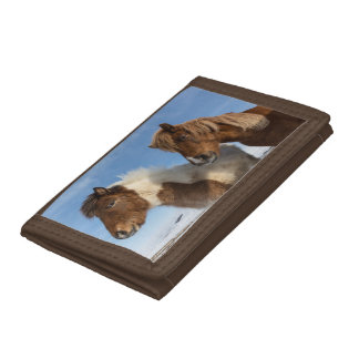 Icelandic horses trifold wallets