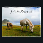 "Icelandic Horses Wildlife Photography Calendar<br><div class=""desc"">Fourteen vibrant photos of Icelandic Horses in the wild make you feel like you&#39;re one of the herd. Each calendar month sports a full-size color photograph of horses in the gorgeous landscape of Iceland. The back of the calendar gives you a convenient 2019 quick-glance calendar and a synopsis of information...</div>"