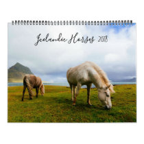Icelandic Horses Wildlife Photography Calendar