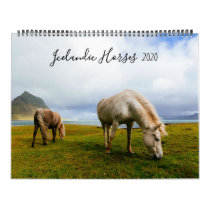 Icelandic Horses Wildlife Photography Custom Year Calendar
