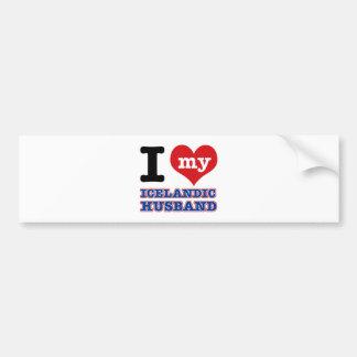 Icelandic I heart designs Bumper Sticker