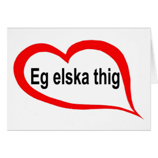 Icelandic I love you Cards