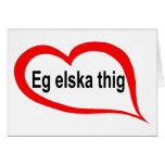 Icelandic I love you Cards