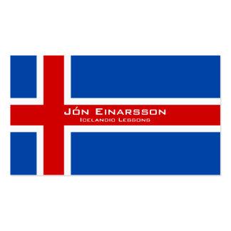 Icelandic Lessons / Icelandic Teacher Business Card