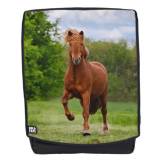Icelandic Pony at Tölt Funny Photo Horse  Rucksack Backpack