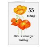 Icelandic Poppies 55th Birthday Card