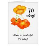 Icelandic Poppies 70th Birthday Card