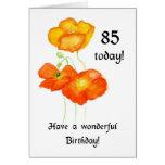 Icelandic Poppies 85th Birthday Card