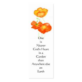 Icelandic Poppies Bookmark Double-Sided Mini Business Cards (Pack Of 20)