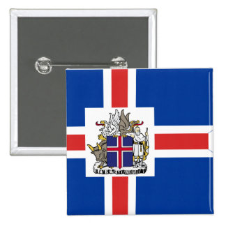 Icelandic Presidential, Iceland flag 2 Inch Square Button