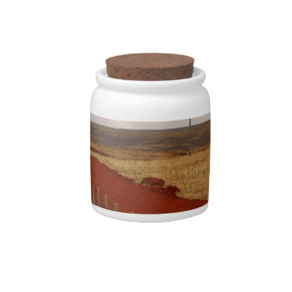 Icelandic Red Dirt Road Candy Dish