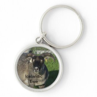 Icelandic Sheep Ewe zazzle_keychain