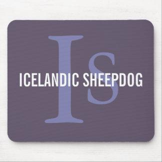Icelandic Sheepdog Breed Monogram Mouse Pad