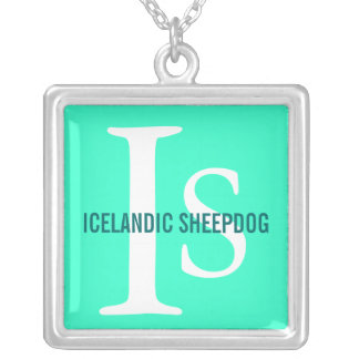 Icelandic Sheepdog Breed Monogram Custom Jewelry